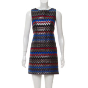 Brand New Alice & Olivia Multi-color Chevron Dress